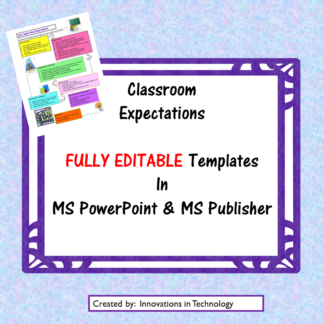 Class Expectations Template Square COVER