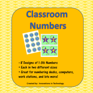 Classroom Numbers Cover square