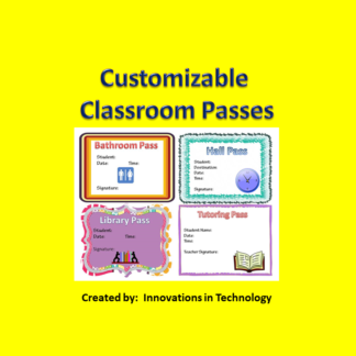 Classroom Passes square cover