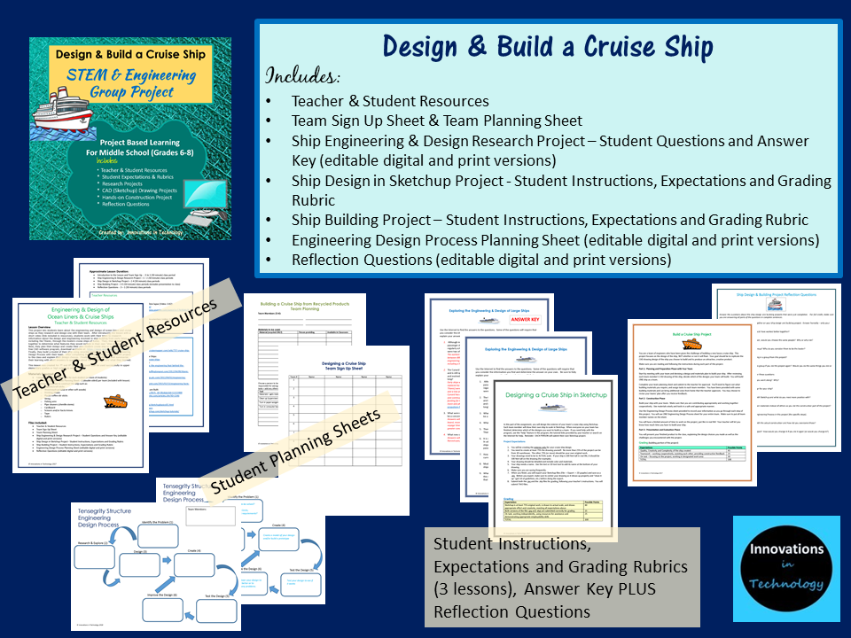 Design And Build A Cruise Ship Stem And Engineering Group Project Innovations In Technology