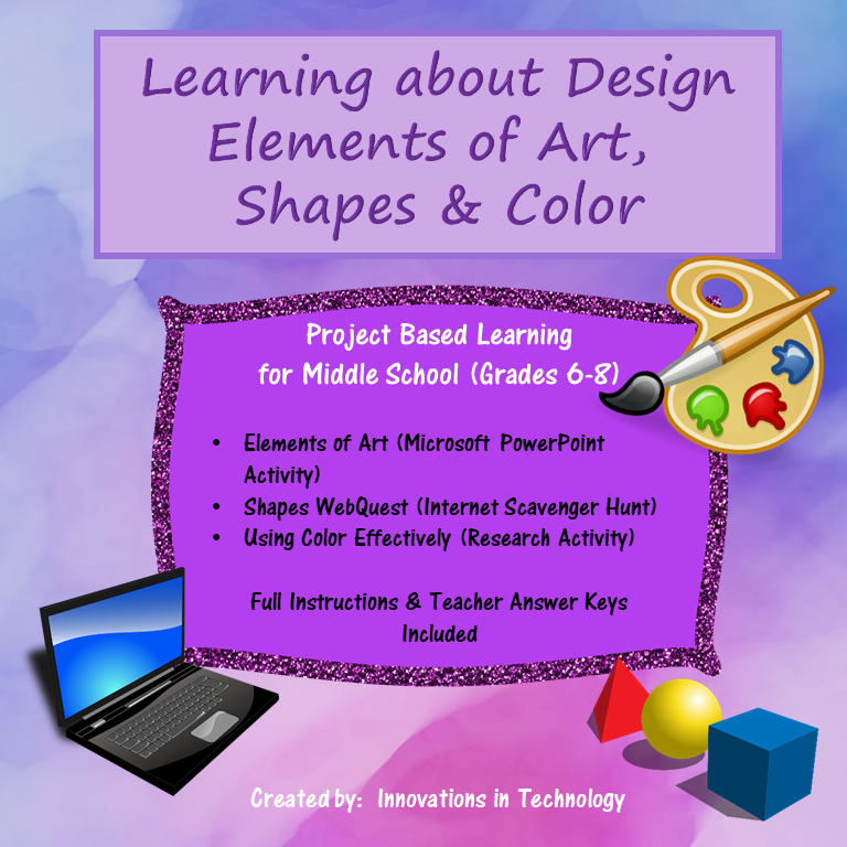 Learning about Design – Elements of Art, Shapes & Colors