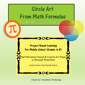 Circle Art from Math Formulas - A Pi Day Activity - Innovations in