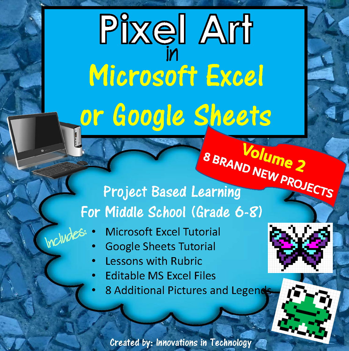Pixel Art in Microsoft Excel or Google Sheets – VOLUME 2 ...