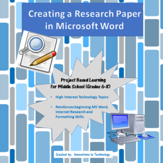 Research Paper in Word Cover square