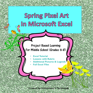 Spring Pixel Art Cover square