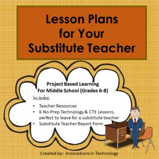 Substitute Lesson Plans Cover square