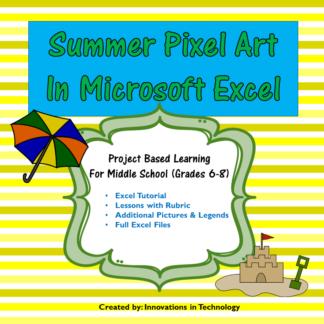 Summer Pixel Art Cover square