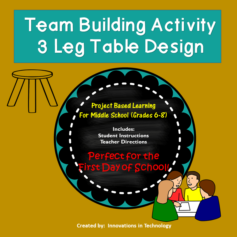 First Day of School – 3 Leg Table Team Building Activity (Back to School)