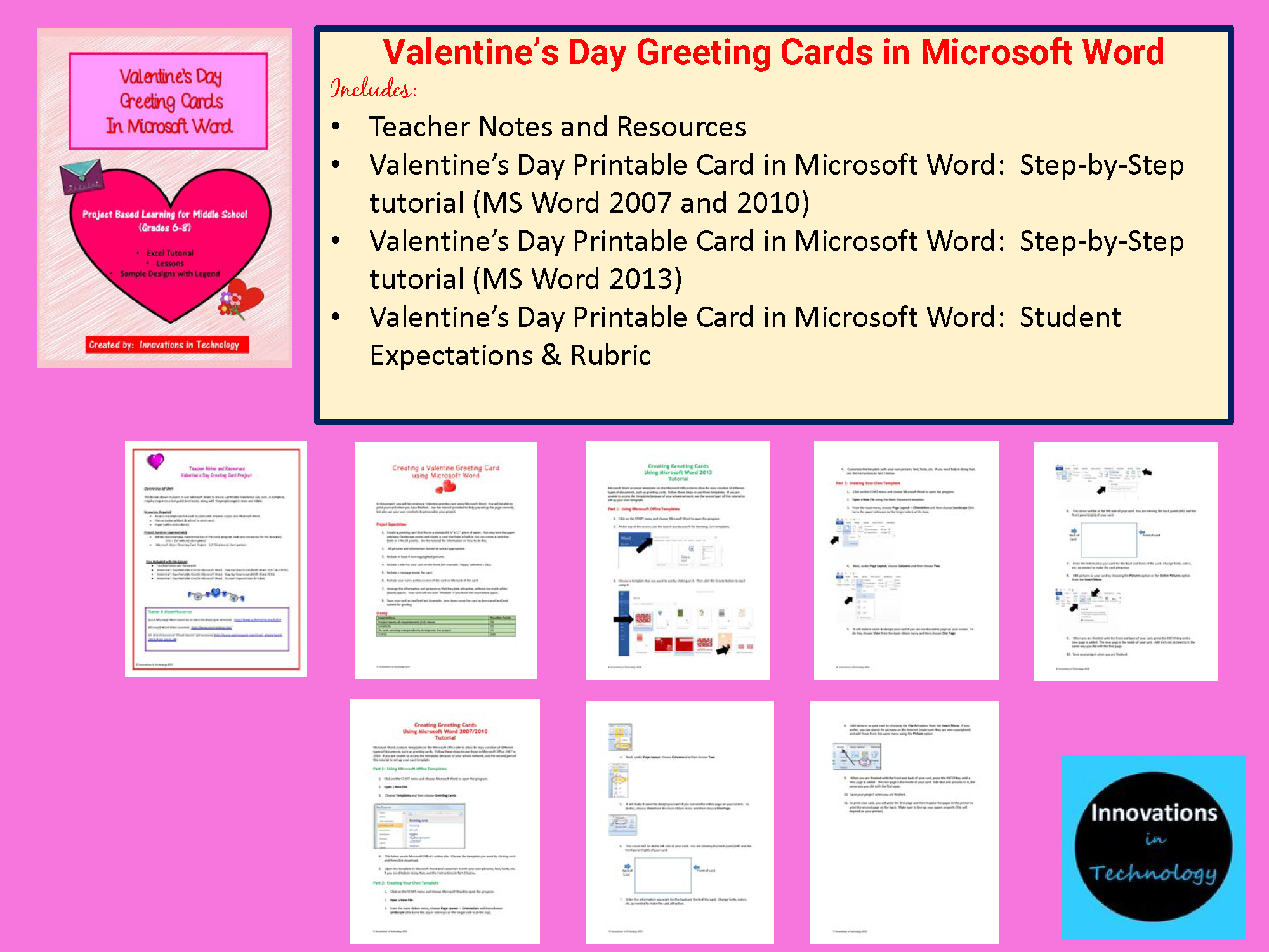 Valentines Day Cards Using Microsoft Word Innovations In Technology