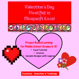 Valentine's Day Pixel Art Cover square