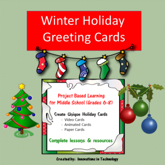Winter Holiday Greeting Cards Cover square