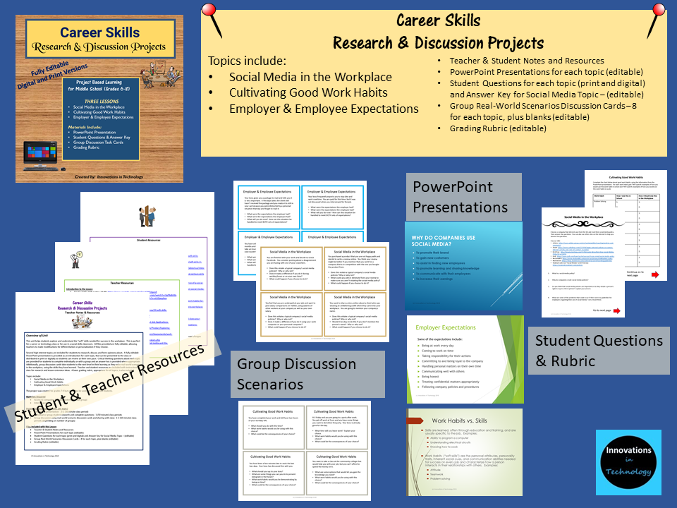 Career Skills Research and Discussion Projects